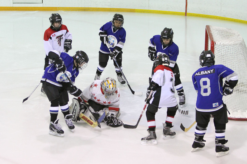 Atom Hockey in Moosonee: Fort Albany Islanders v. Moosonee Hawks.