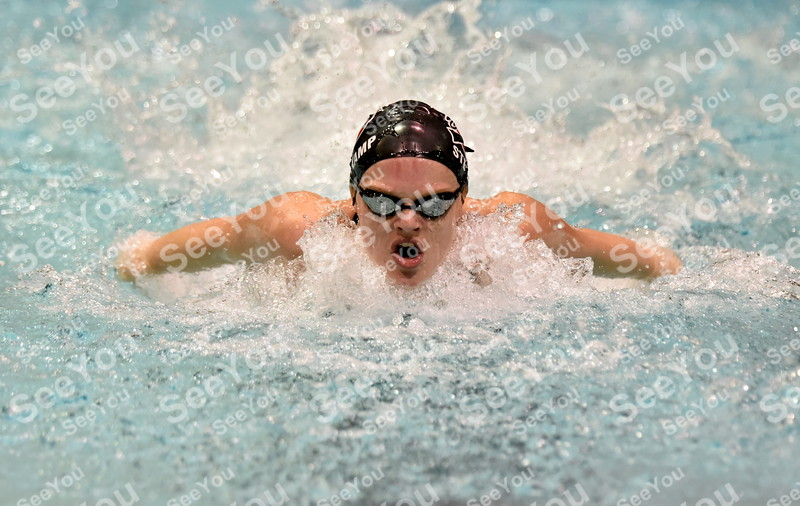 -Messenger photo by Britt Kudla<br /> Rylie Steinkamp of Fort Dodge compete in the Girls 200 Yard Medley Relay against Ames on Tuesday