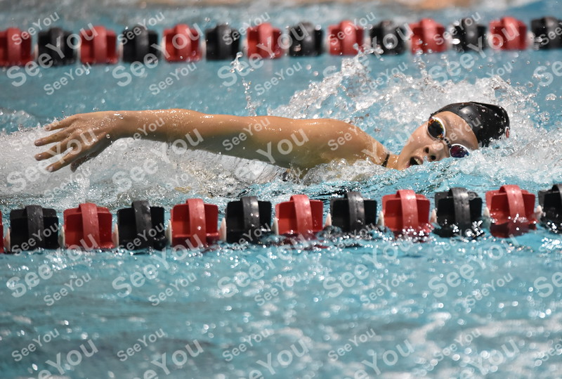 -Messenger photo by Britt Kudla<br /> Luanne Xiao of Fort Dodge swims in the girls 200 Yard Freestyle on Tuesday
