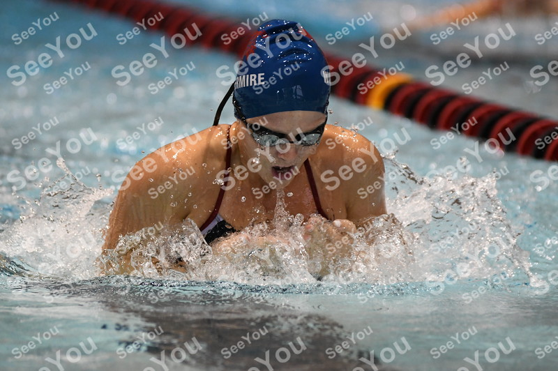 -Messenger photo by Britt Kudla<br /> Cece Waltemier of Marshalltown compete during girls 200 yard Medley Relay against Fort Dodge on Tuesday
