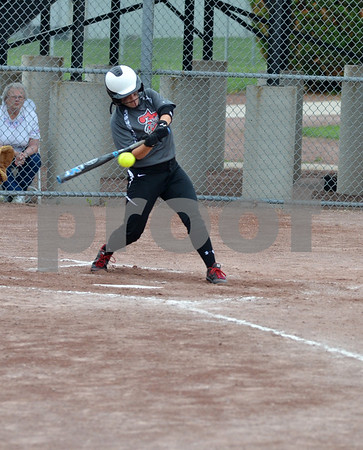 -Messenger photo by Britt Kudla<br /> Maddie Egli of Fort Dodge hit a home run during the second inning against Marshalltown on Monday