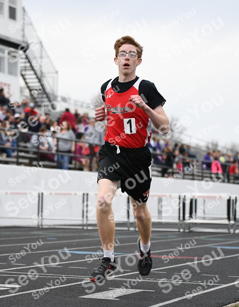 -Messenger photo by Britt Kudla<br /> Ryan Madden of Fort Dodge compete in the 800 meter Relays during Dodgers Relays on Monday