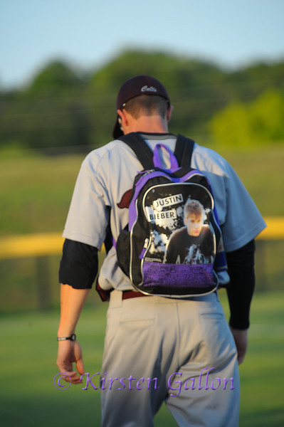 A San Angelo player with his Justin Bieber backpack.  Seriously?
