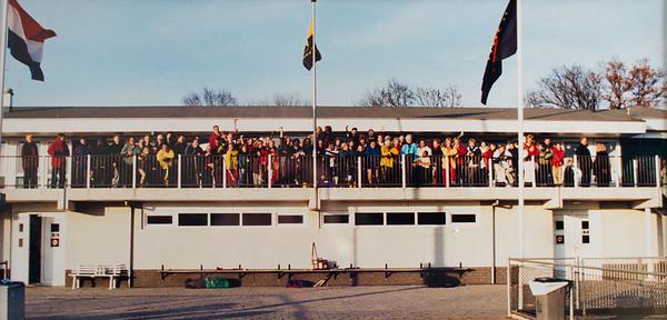 Foto lustrum 2003  Hangt in bestuurskamer   Voorwerpen aanwezig Clubhuis 7 maart 2013  Fotograaf: Lucrees van Groningen
