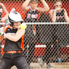 Record-Eagle/Brett A. Sommers Kingsley's Lacey Benton leans away from a pitch during Tuesday's softball doubleheader against Frankfort. Frankfort won the first game 9-0, and Kingsley won the second 10-4.