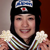 Référence : in09-dmow-01-0675<br /> Theme  : FREESTYLE<br /> Style : MEDALS<br /> People : WOMEN<br /> Discipline : DUAL MOGULS<br /> Racer's name : UEMURA Aiko<br /> Nationality : JPN<br /> Place : INAWASHIRO (JPN) 2009<br /> Event : FIS WORLD CHAMPIONSHIPS<br /> Copyright : AGENCE ZOOM