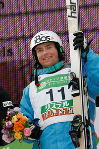 INAWASHIRO, JAPAN Ð MARCH 07: (FRANCE OUT) Patrick Deneen of United States takes 1st place during the FIS Freestyle World Championships Ð MenÕs Moguls event on March 07, 2009 in Inawashiro, Japan (Photo by Agence Zoom/Getty Images).