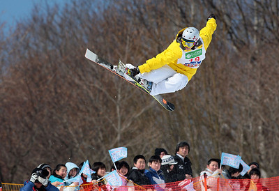 INAWASHIRO, JAPAN Ð MARCH 05 : (FRANCE OUT) Jennifer Hudak of United States takes the 3rd  place during the FIS Freestyle World Championships Ð WomenÕs Halfpipe event on March 05, 2009 in Inawashiro, Japan (Photo by Agence Zoom/Getty Images).