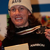 INAWASHIRO, JAPAN Ð MARCH 04 : (FRANCE OUT) Emily Cooper of Australia takes the 3rd place during the FIS Freestyle World Championships Ð WomenÕs Aerials event on March 04, 2009 in Inawashiro, Japan (Photo by Agence Zoom/Getty Images).