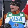 Davey Barr of Canada celebrates his win in Ski Cross at a FIS freestyle World Cup at Deer Valley Resort in Park City, Utah, Saturday, Feb. 2, 2008. Photo by Mike Ridewood/FIS