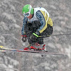 Brian Bennett of Canada. skis in heavy snow and qualified 18th in ski cross for Saturday's final at Deer Valley Resort in Park City, Utah, Friday, Feb. 1, 2008.<br /> Photo by Mike Ridewood/FIS