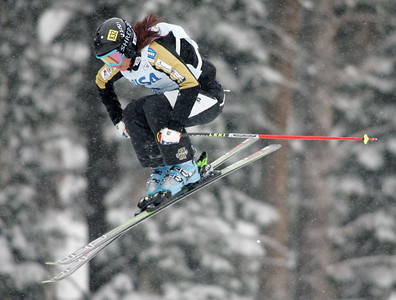 Sasa Faric of Slovenia finished third in ski cross qualifications at a FIS freestyle World Cup at Deer Valley Resort in Park City, Utah, Friday, Feb. 1, 2008.   Photo by Mike Ridewood/FIS