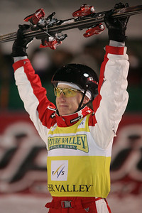 Jacqui Cooper of Australis finished second in aerials at a FIS freestyle World Cup at Deer Valley Resort in Park City, Utah, Friday, Feb. 1, 2008.   Photo by Mike Ridewood/FIS