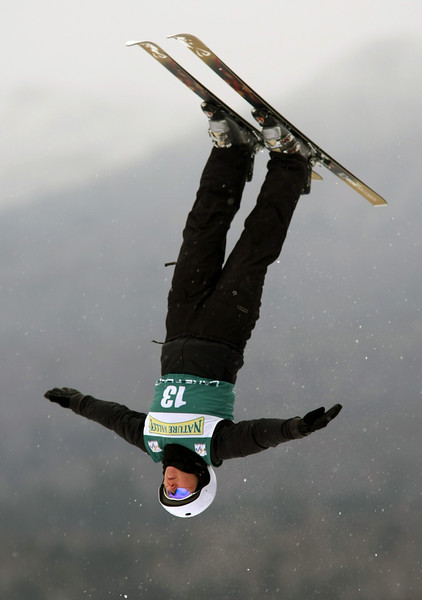 Alla Tsuper of Belaurus jumped to first place in women's aerials at a freestyle FIS World Cup, Sunday, Jan. 18, 2009 at Lake Placid, New York.     Photo by Mike Ridewood/FIS