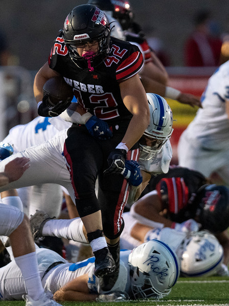 Fremont vs Weber during the prep football game. In Pleasant View, On September 25, 2020. Gage Lloyd (42)