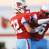 Globe/Roger Nomer<br /> Webb City's Kiante Hardin (5) celebrates with Trey Parra (32) after scoring a touchdown against Republic during Friday's game in Webb City.