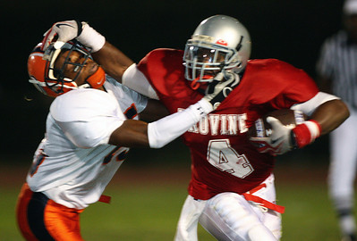 Provine's Jadarius Hicks attempts to run around a Callaway defender.