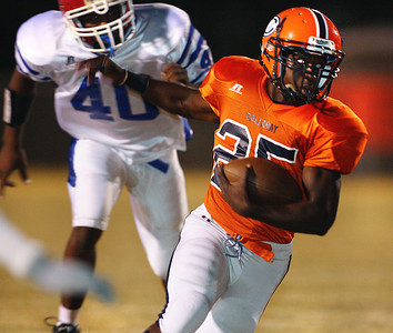Callaway running back Daryl Jones, Jr. attempts to run through the Neshoba Central defense.
