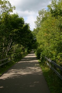 The Friendship Trail is a biking/roller blading/walking/running trail that runs from Port Colborne to Fort Erie, Ontario.