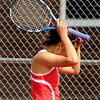 "Fairview High School's Monica Li shows her emotions after missing a return while playing Boulder High School's Miquela Newhart during a semi-final match in the Front Range League Tennis Championships at Fairview High School. For more photos of the matches go to  <a href=""http://www.dailycamera.com"">http://www.dailycamera.com</a><br /> Jeremy Papasso/ Boulder Daily Camera"