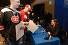 Drew LeBlanc at the Hobey Baker Award autograph session.