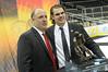 Drew LeBlanc and coach Bob Motzko.