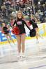 Cheer Team members take the ice.