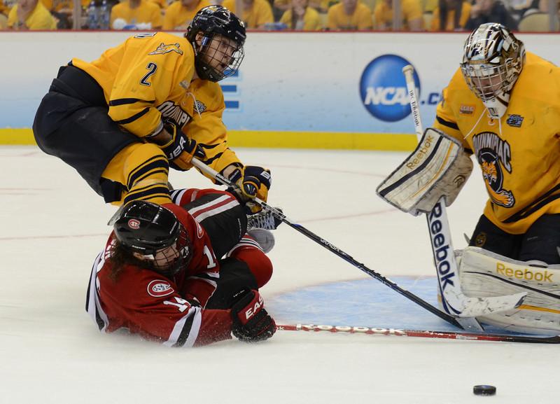 Nick Jensen makes an attempt at the goal.