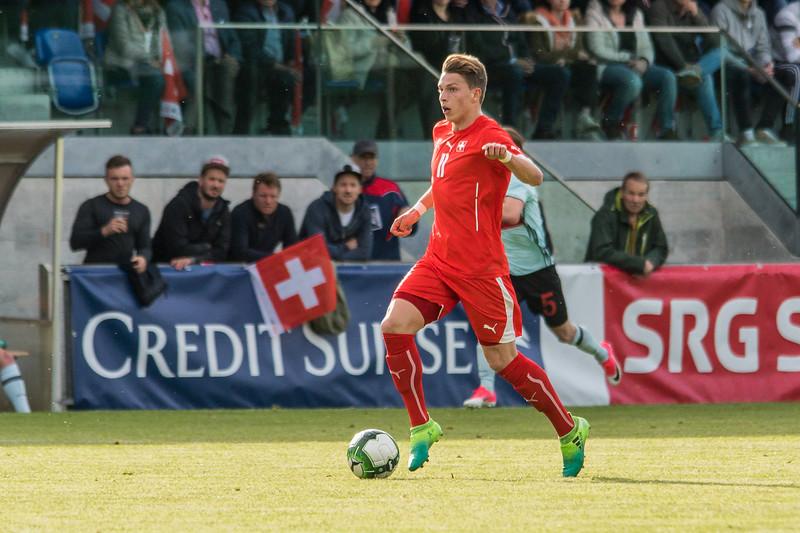 Fussball U18 Länderspiel: Schweiz - Belgien - 0:1
