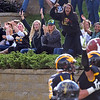 Pat Christman <br /> Fans celebrate a touchdown catch by Gustavus Adolphus College's Matt Boyce (foreground) during the second half against St. Olaf Saturday.