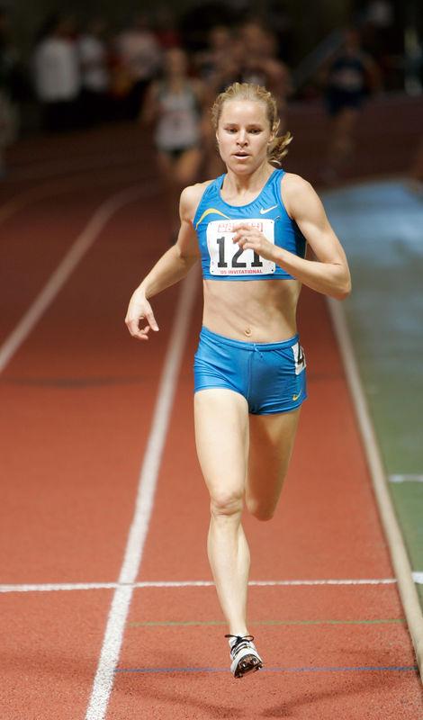 Jen Toomey (who else) won the GBTC Invitational mile in 4:32.28