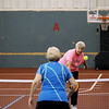 Record-Eagle/Keith King<br /> Barb Prior and John DeHoog, both of Muskegon, compete Friday, September 21, 2012 during the Great Lakes Open Pickleball Tournament at the Grand Traverse Bay YMCA in Traverse City.