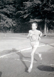 Michelle Jernigan a few years before this. Didn't Michelle win the 1980 Pine Run 20K at age 9?