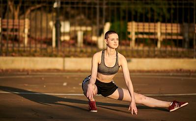 Sept.2\8,  2019 - New York, NY   Dancer/ Fit Model Gabrielle Corrigan captured along Manhattan's East River    Photographer- Robert Altman Post-production- Robert Altman