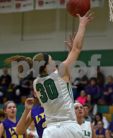 -Messenger photo by Britt Kudla<br /> Anna Yung of St. Edmond shoots the ball against Webster City on Tuesday night inside Gaels gym