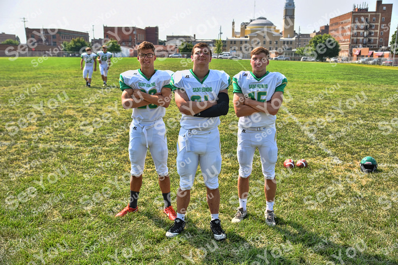 -Messenger photo by Britt Kudla<br /> St. Edmond Special Teams are, left to right, Jonah Hindt, Sean Newell, Drew Schaeffer