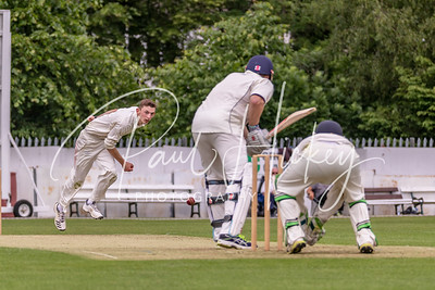 Ryan Field bowling for Kidderminster BDPCL 2nd Xl Vs Rugby CC 2nd Xl, 02/06/18. Kidderminster 309 for 7 (46.2 Overs). Rugby 307 for 6 (50 Overs)