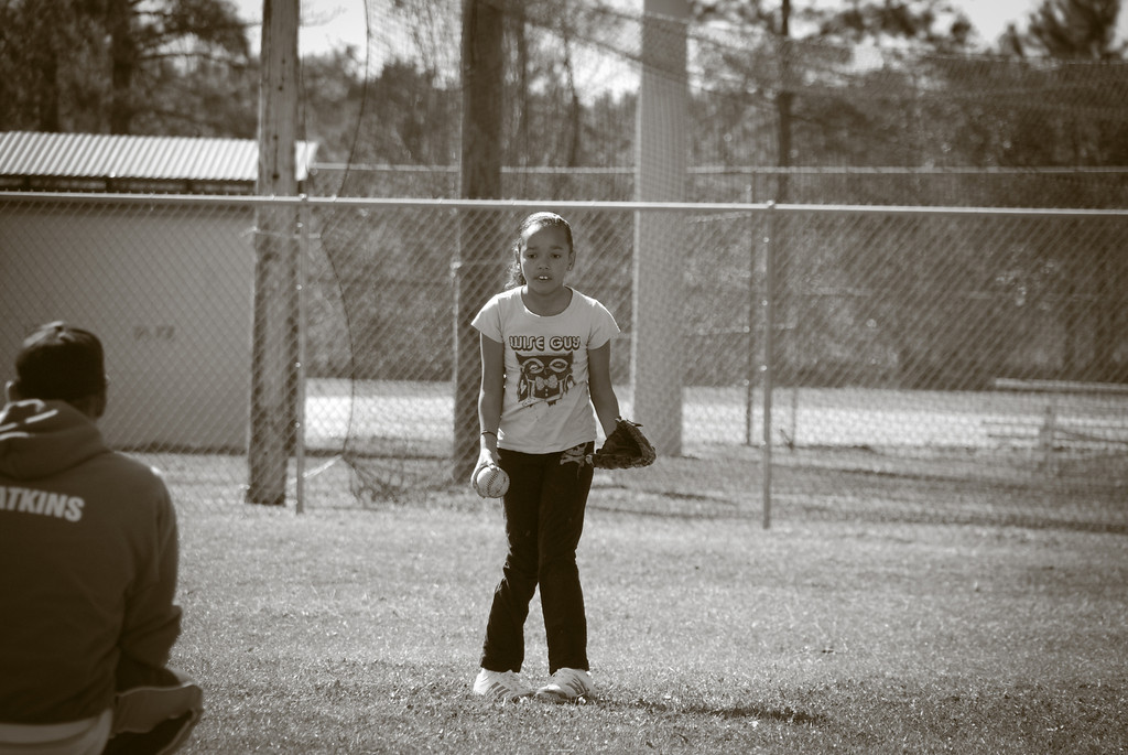 I have signed Kyla up for Softball, they had their assessments today. My sweet-pea was so nervous...she cried, was super scared, but when it was her time to shine she got out there and got the job done. Love this kid