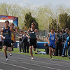 Santa Fe High Senior Josh Roybal placed first in the 100 boys meter dash with a score of 1066 during the  Capital City Invitational track and field meet at Santa Fe High on Saturday, April 14, 2012.<br /> <br /> Photos by Jane Phillips/The New Mexican