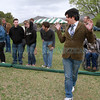 St. John's sophmore, Gonzalo Gamarra Jordan,21, reacts after tossing the Bocce ball during the inaugural Bocce match between St. John's College and a team of Cadets from the US Air Force Academy in Colorado Springs Saturday, April 14th at St. John's.<br /> St. John's won 15-5.<br /> <br /> Photos by Jane Phillips/The New Mexican