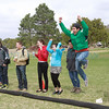 Students cheer during the inaugural Bocce match between St. John's College and a team of Cadets from the US Air Force Academy in Colorado Springs  Saturday, April 14th at St. John's.<br /> St. John's won 15-5.<br /> <br /> Photos by Jane Phillips/The New Mexican