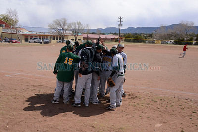 District 6AA baseball game between Monte del Sol and Pecos. The game was played at Pecos on Thursday April 18, 2013.  Clyde Mueller/The New Mexican