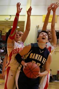 Santa Fe High vs Española at Edward Medina Gymnasium on Friday, February 24, 2012.  Photos by Jane Phillips/The New Mexican