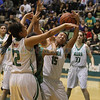 The fourth quarter of the Pecos vs Mora girl's basketball game of the Northern Rio Grande Tounament at Pojoaque High School on January 4, 2014. Luis Sanchez Saturno/The New Mexican