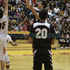 The second quarter of the Española Valley High School vs Capital High School during the district 2AAAA boys basketball championship at Española Valley on March 1, 2014. Luis Sanchez Saturno/The New Mexican