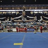 The Santa Fe High School cheerleading squad during their performance on the first day of the State Spirit Competition on Friday, March 27, 2015, at The Pit in Albuquerque. Luis Sanchez Saturno/The New Mexican