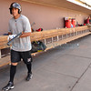 Brian Pablo Cavazos-Galvez, of Albuquerque, New Mexico and former Manzano High and University of New Mexico baseball player warms up prior to making his AAA debut as an outfielder for the Albuquerque Isotopes on Thursday evening, May 17, 2012.<br /> Clyde Mueller/The New Mexican