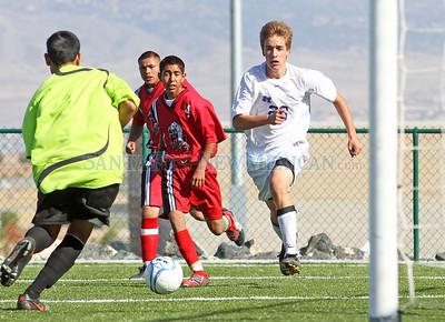 St. Michael's High School vs. Hatch Valley High School, boys soccer game on Nov. 4, 2010. The Horsemen won 1-0.  Natalie Guillén/The New Mexican