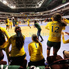 West Las Vegas High School's bench cheers their team on during 2013 Volleyball Championships at the Santa Ana Star Center on November 14, 2013. Luis Sánchez Saturno/The New Mexican