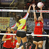 State Volleyball Tournament, first round at Santa Ana Star Center in Rio Rancho on Thursday, November 13, 2014.  Jane Phillips/The New Mexican